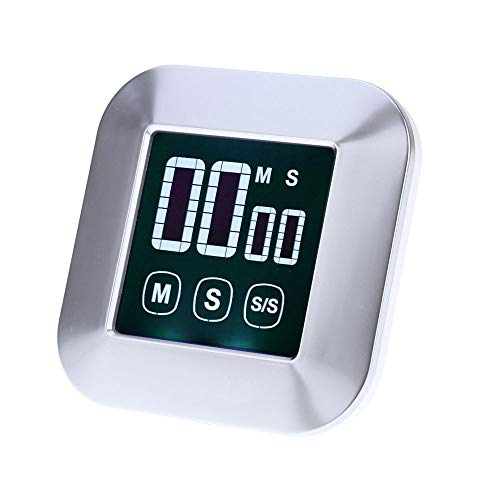 HaavPoois Kitchen Timer Touch Screen Digital Kitchen Timer Kitchen Timer Magnetic Electronic Timer and Stopwatch Sounding Alarm with LCD Display