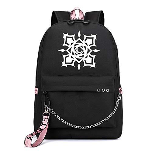 YOYOSHome Japanische Anime Cosplay Büchertasche Daypack Laptoptasche Rucksack Schultasche mit USB-Ladeanschluss, Vampire Knight (Schwarz) - yyyo3