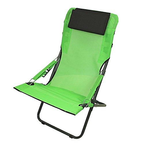Fridani campingstoel RCG 100 klapstoel groen + hoofdkussen comfortabele XXL tuinstoel zonnebed