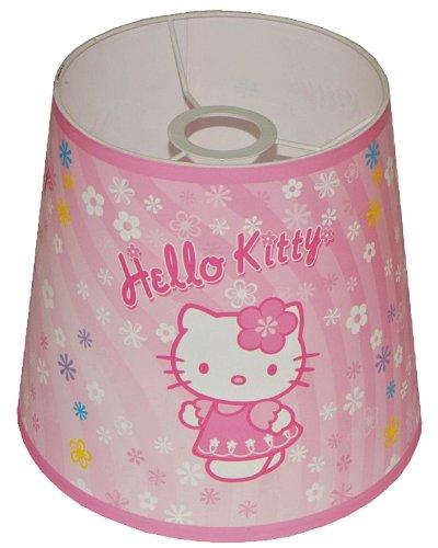 alles-meine.de GmbH Lampenschirm Hello Kitty für Deckenlampe / Hängelampe / Stehlampe - für Kinder Kinderzimmer Kinderlampe Leuchte Kätzchen Katze rosa Tischlampe