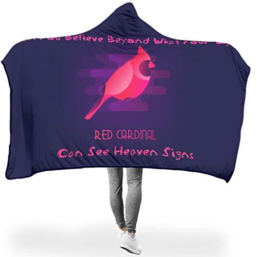 O5KFD & 8 Draagbare deken, twee maten, met capuchon, deken, rode vogel, geschikt voor Siesta