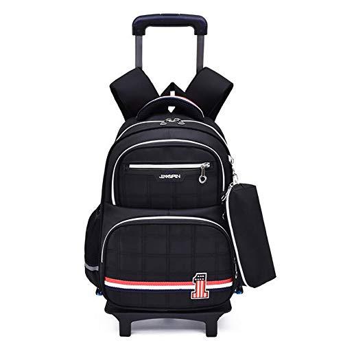SBFYLD 16 Inch Student Rolling Rugzak+Potlood tas, Travel Wheeled Laptop Rugzak voor Vrouwen Mannen, Carryon Trolley Bagage koffer Zakelijke Tas, Fit 15 Inch Laptop