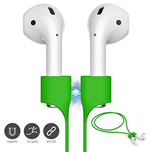 FONY Airpods Magnetic Strap Anti-Lost Airpods Cord Sport String Silicone Leash Cable Connector – Airpods Accessories for Airpods Pro/2/1 (Green)