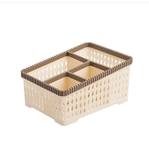 ZHAS Kosmetische Aufbewahrungsbox Kosmetische Aufbewahrungsbox/Frisierkommode Finishing Box Desktop/Kunststoff-Hautpflegeprodukte/Khaki