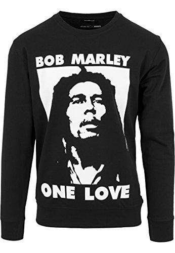 Mister Tee Herren Bob Marley One Love Crewneck Sweatshirts, Black, S