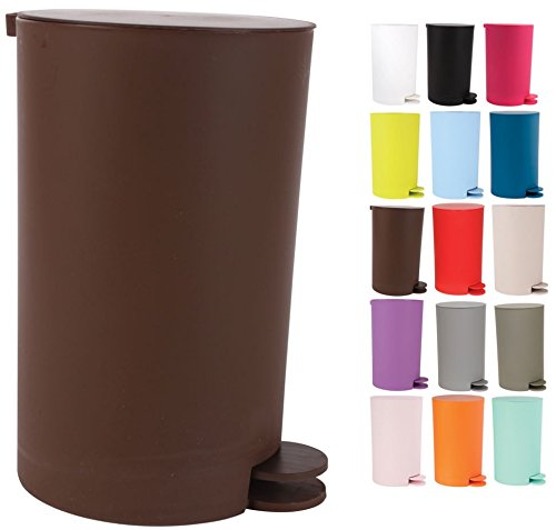 Lowest Prices! MSV Pedal bin Osaki 3l in Dark Brown, 3 Litre