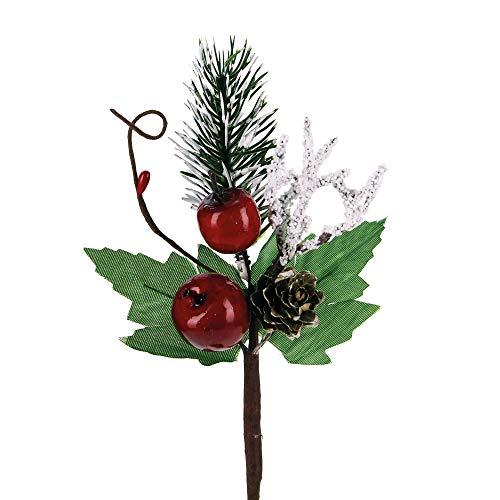 Stefanazzi 10 Unidades de 18 cm de Largo, piñas de Manzana y Pino para Navidad, Manualidades, decoración para árbol de Navidad, Ramas Decorativas para Centro de Mesa Realista, Ramas de Navidad
