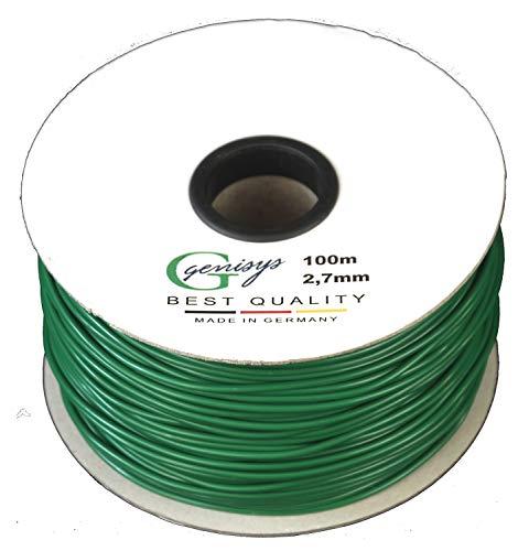 Genisys Begrenzungskabel Kabel 100m Begrenzungs Draht Ø2,7mm - HQ - auf der Kabelrolle - kompatibel mit Honda ® Miimo ® 310 520 3000