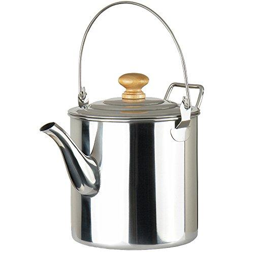 Lixada 2000ml / 3000ml Camping Pot Außen Edelstahl Teekessel Kaffee Kanne (2000ml)