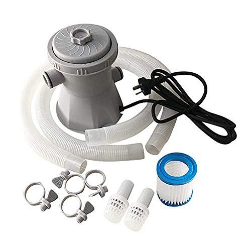 MiXXAR Bomba de filtro de piscina sobre el suelo, herramienta de limpieza para herramienta de limpieza, bomba de filtro de agua para piscina, jacuzzi