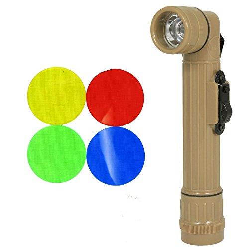 Mil-Tec Small LED Anglehead Flashlight (Tan)