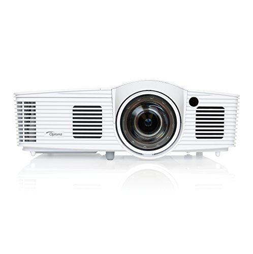 Optoma EH200ST Full 3D 1080p 3000 Lumen DLP Short Throw Projector with 20,000:1 Contrast Ratio and MHL Enabled HDMI Port , white