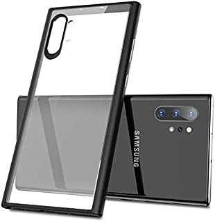 Keysion for Samsung Galaxy Note 10 plus Case, Transparent with Black Frame