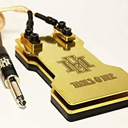 HM Tools and Dye Heavy Duty 2-Plate Brass Tattoo Foot Pedal