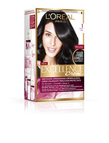 L'Oréal Paris – Excellence Crème – Pro Keratine 1 Noir Lot de 3 (3 x 1)