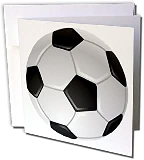 3dRose Soccer Ball - Greeting Cards, 6 x 6 inches, set of 6 (gc_6254_1)