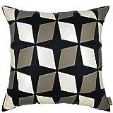 HQQ Dreidimensionales Kariertes Muster Kissen weich Dekoration Geometrische Grau Sofakissen