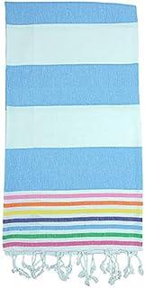 Birchwood Rainbow Turkish Towel, Blue