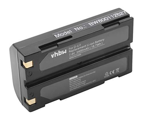 vhbw Li-Ion batería 3400mAh (7.4V) para Trimble GPS Receiver R3, R4, R5, R6 y D-Li1, C8872A