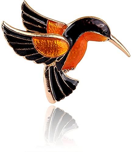 NZDY Broche de Moda Pin Bird Broches Animal Aleación Creativa Pintura Pines Hombre Hombre Realista Colibrí Suéter Decoración Regalos de Moda Bridal Broche Pin