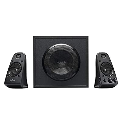 Logitech Z623 THX 2.1 Speaker System with Subwoofer, THX Certified Audio, 400 Watts Peak Power, Deep Bass, Multi Device, 3.5mm & RCA Inputs, Easy Controls, PC/PS4/Xbox/DVD Player/TV/Smartphone/Tablet from Logitech