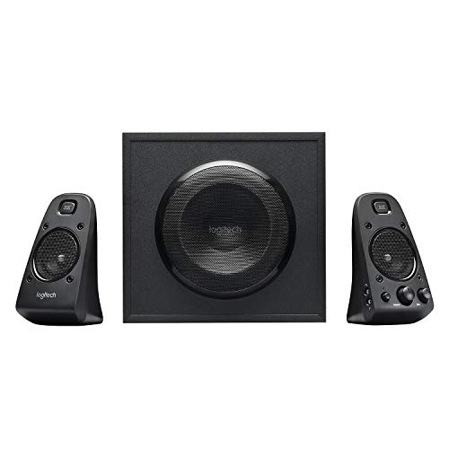 Logitech Z623 THX Sistema di Altoparlanti 2.1 con Subwoofer, Certificazione THX, 400 Watt, Bassi Profondi, Multi-Dispositivo, Porta 3.5 mm e RCA, Presa EU/IT, PC/PS4/Xbox/DVD/TV/Smartphone/Tablet