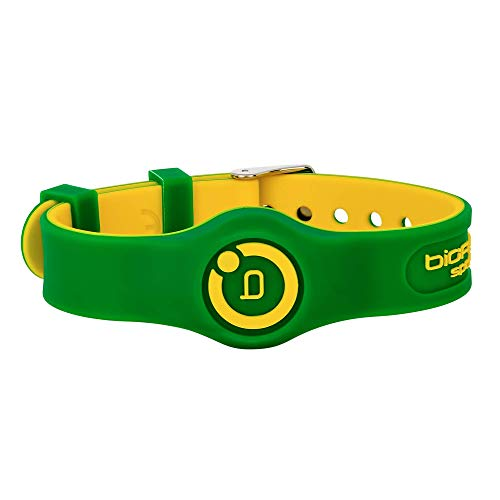Bioflow Sport Flex Adjustable Magnetic Therapy Wristband - Green/Yellow