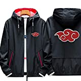 Poetic Walk Naruto Akatsuki Uchiha Itachi Cloak Red Cloud Sharingan Cosplay Costume Young Thin Hoodie Coat Sports Jacket (Large, 01 Red Cloud)