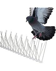 Gardigo Duivenpinnen van Roestvrij staal, 4 Meter, Spikes tegen Duiven, Pack van 10x Vogelpinnen - 12,3 x 10,9 x 40,5 cm per stuk, Flexibele Basis