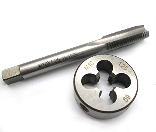 M10 x 1.25mm Metric Threading Tap and Metric Round Threading Die Right Hand