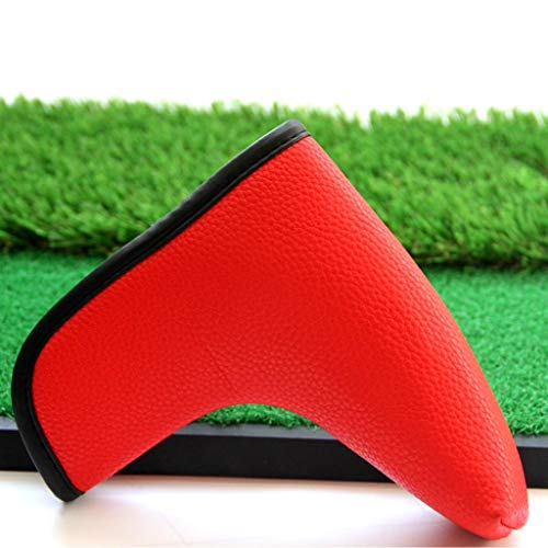 Toygogo Golf Putter Blade Head Cover Headcover Closure Boot Headcover Protector Accessories for Golf Activity - 2 Colors Optional - Red