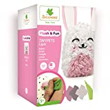 Kit de loisir créatif enfant - Tinypets lapin - Personnage 3D à customiser - DIY - Plush & Fun - Dès 7 ans - Sycomore - CRE8015
