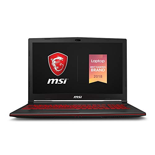 MSI GL63 8SC-059 15.6' Gaming Laptop, Intel Core i7-8750H, NVIDIA GeForce GTX1650, 8GB, 256GB Nvme SSD, Win10