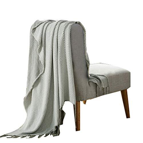 Manta De AlgodóN Textil, Manta De Borla Hecha Punto, Manta De Rodilla para El Hogar