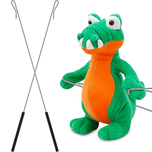 2 Pieces Metal Puppet Arm Rod 15 Inches Puppet Arm Control Rod Stainless Steel Puppet Control Stick Metal Arm Control Rod Accessory for Small and Large Puppets Handles Rubber Protective Sleeve Rod