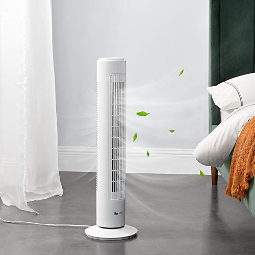 [in.tec] Turmventilator Oszillierend Standventilator 3 Stufen Säulenventilator 50 W