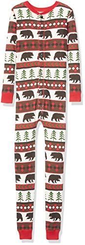 Lazy One Flapjacks, Matching Pajamas for The Dog, Baby & Kids, Teens, and Adults (Bear Fair Isle,Medium)