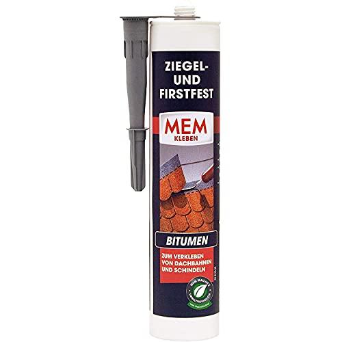 MEM ZIEGEL- and Firstfest lmf - 445 g - spezieller Bitumenklebstoff - hochwertiger Klebstoff zum Verkleben von Dachbahnen und Schindeln - hohe Anfangklebkraft - 30822627
