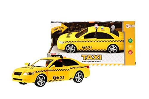 Toi-Toys 24050A Super Yellow Taxi Figur, Mehrfarbig