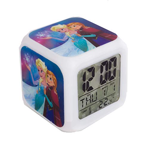 TBL FR33130 Réveil Color Changing Reine des Neiges Blanc