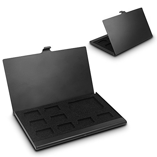 Senhai SD Memory Card-Aluminium-Gehäuse, Micro SD Card Speicherschutzbehälter, 2 Pack - Schwarz