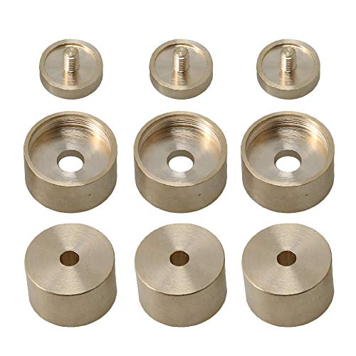 Buy Bargain 3 Sets of Copper Trumpet Finger Buttons for Small Upper/lower Cover Bare Copper