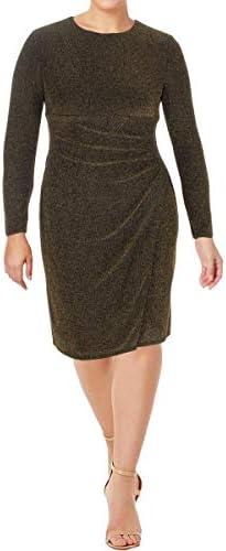 Lauren by Ralph Lauren Women s Metallic Jacquard Dress Black Gold 6 product image