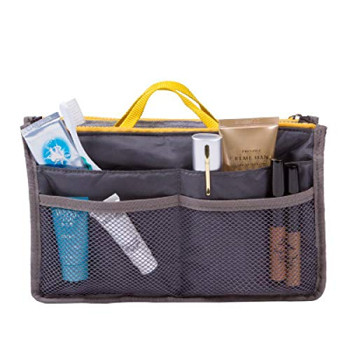 Korea Cosmetic Bag_Korea Travel Cosmetic Bag Handbag Multifunctional Bag Travel Nylon Wholesale Customization, Light Grey, Large