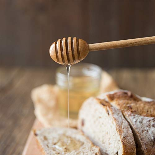 2020 new 1Pc Wooden Honey Spoon Long Handled Wood Honey Dipper Stick Teaspoon Coffee Mixing Spoon Kitchen Tea Accessories (Color : 1)