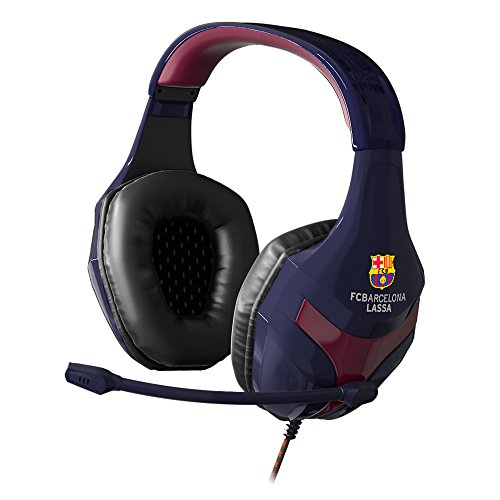 MARSGAMING MHBC, Cascos Oficiales Euroliga FCB, Micro Plegable, PC/PS4/Xbox/Mac