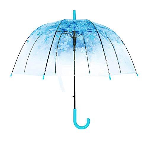 Heldere luifel zeepbel paraplu transparante koepel vorm kersen bloesems, winddicht lichtgewicht Stick paraplu