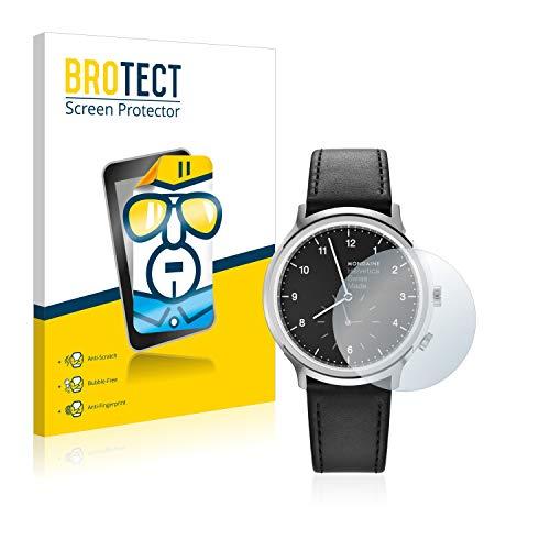 BROTECT Schutzfolie kompatibel mit Mondaine Helvetica No1 2nd time Zone (40 mm) (2 Stück) klare Bildschirmschutz-Folie