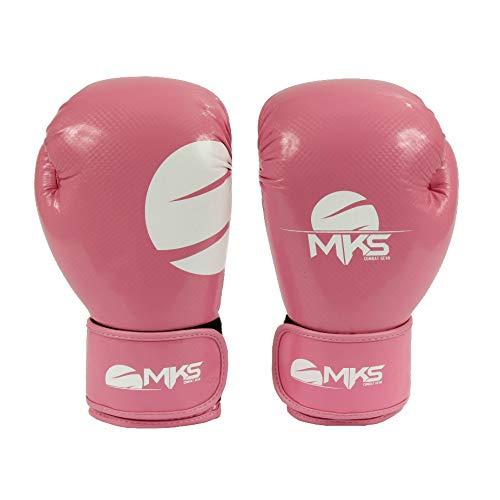 Luva Boxe Mks Combat Champions Atena Rosa 12 Oz