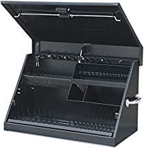 Montezuma – ME300B – 30-Inch Portable TRIANGLE Toolbox – Multi-Tier Design – 16-Gauge Construction – SAE and Metric Tool Chest – Weather-Resistant Toolbox – Lock and Latching System, Black, 30